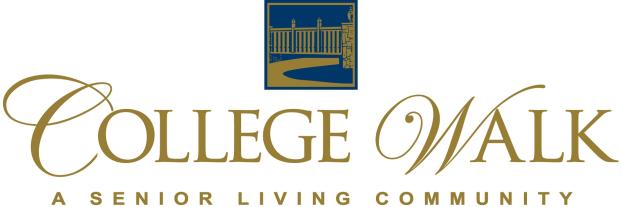 College Walk Retirement, A Senior Living Community, TCS Sponsor