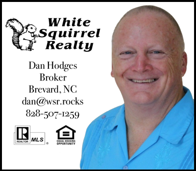 Dan Hodges White Squirrel Realty 2018 Transylvania Choral Society Sponsor