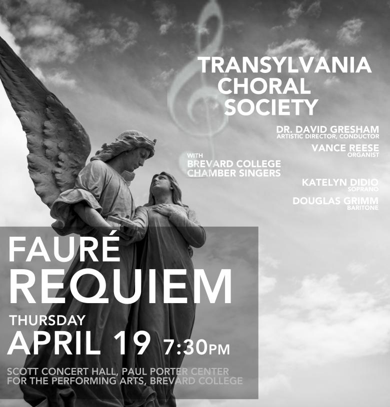 Tickets for Fauré Requiem, Transylvania Choral Society, April 19, 2018