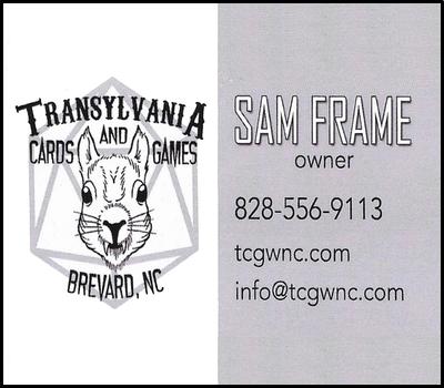 Transylvania Cards and Games, TCS Sponsor Spring 2019