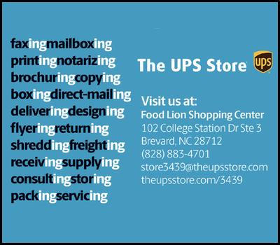 TCS Sponsor Spring 2019, UPS Store 3439 Brevard