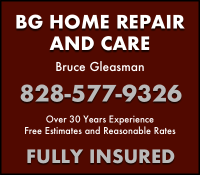 BG Home Repair and Care, Bruce Gleasman Transylvania Choral Society Sponsor